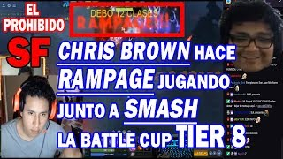 BRUTAL SMASH Y CHRIS BROWN JUGANDO BATTLE CUP TIER 8 CON RAMPAGE | DOTA 2 COSAS