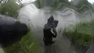 Подводная охота на реке Каспля.