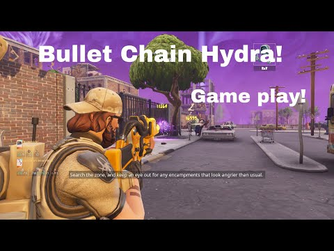 Shooting The Rarest Gun In The Game   *Bullet Chain Hydra* Fortnite Save  The World
