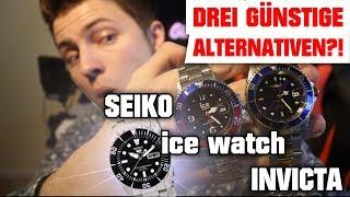 Drei günstige ALTERNATIVEN?! SEIKO vs. Invicta vs. ICE Watch #VerspäteterAprilScherz