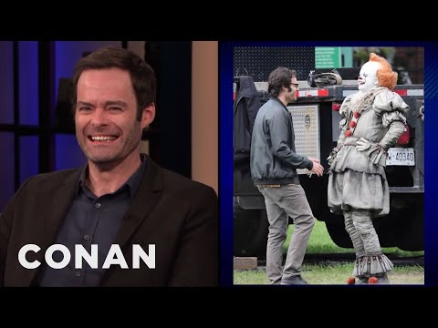 "Bill Hader Can't Stop Smiling On The Set Of ""It 2"" (видео)"