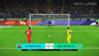 El Clasico | FC BARCELONA vs REAL MADRID | Penalty Shootout | PES 2018 Gameplay PC
