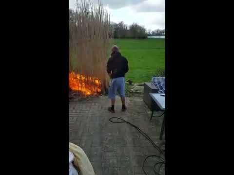 Man accidently burns down his garden