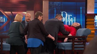 WomanExperiencesPTSDEpisodeWhileSpeakingWithDr.Phil
