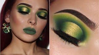 Green & Gold Halo Eye | Christmas Inspired Makeup Tutorial