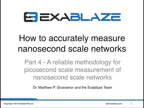 Part 4 - A reliable methodology for picosecond scale measurement of nanosecond scale networks