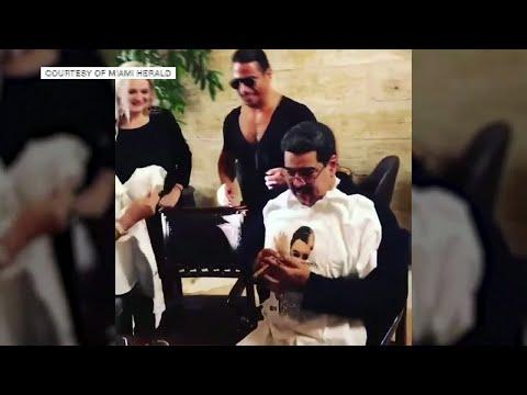 When star chef Nusret #SaltBae cooks for Venezuela's president Nicolas Marudo