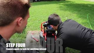 Hydro-Jetting a Clogged Sewer Line