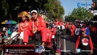 Kirab Atlet Asian Games 2018 Keliling Kota Solo