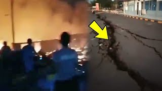 Video Detik-detik Gempa 7.0 SR Guncang NTB hingga Akibatkan Kebakaran Satu Desa dan Jalan Retak