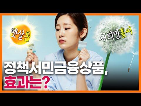 햇살론, 새희망홀씨 등 정책서민금융상품, 서민들에게 도움이 됐을까? 동영상표지