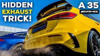 2019 MERCEDES-AMG A35 EXHAUST TRICK! COLD START LOUD SOUND!