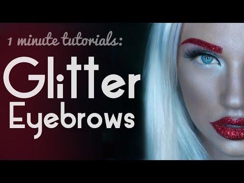 1 Minute Makeup Tutorial: Glitter Eyebrows