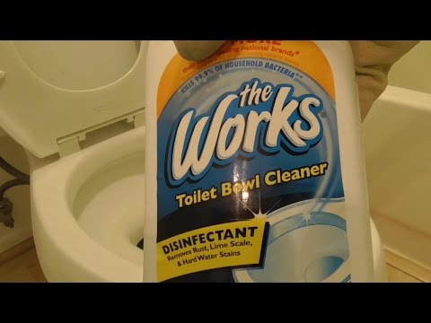 The Works Review HOW to CLEAN your Toilet of Calcium Rust Lime Stains