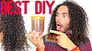 BEST DIY Leave-In Conditioner Tutorial EVER !! Silky Soft And Defined Curly Hair