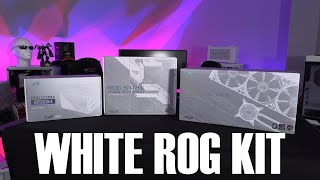 White ROG Hardware - Quick Look - Strix 850W, Z490-A Gaming, Strix LC360 RGB
