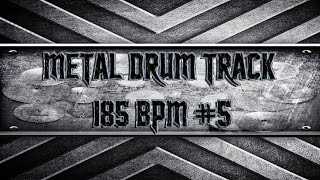 Speed/Thrash Metal Drum Track 185 BPM (HQ,HD)