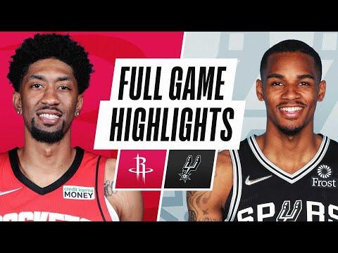 San Antonio Spurs vs Houston Rockets</a> 2021-10-16