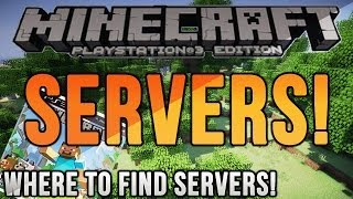 Minecraft: PS4: SERVERS! Where to Find PS4 MC Servers!