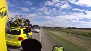preview picture of video 'MAVIC Motorcycle at the 2014 Tour of Alberta - Clip 1 - Stage 2 - Innisfail to Red Deer'