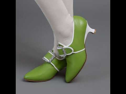 Dunmore Women's 18th Century Shoes (Green/White)