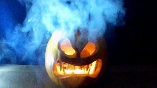 How to Make a Smoking Pumpkin - Halloween Jack o Lantern thumbnail
