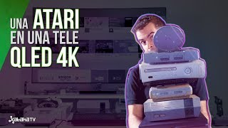 TV QLED 4K vs de la Atari a la PS4 #RetoXataka