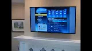 preview picture of video 'LED TV Full Motion Mount Installation above Fireplace - Morristown, NJ'
