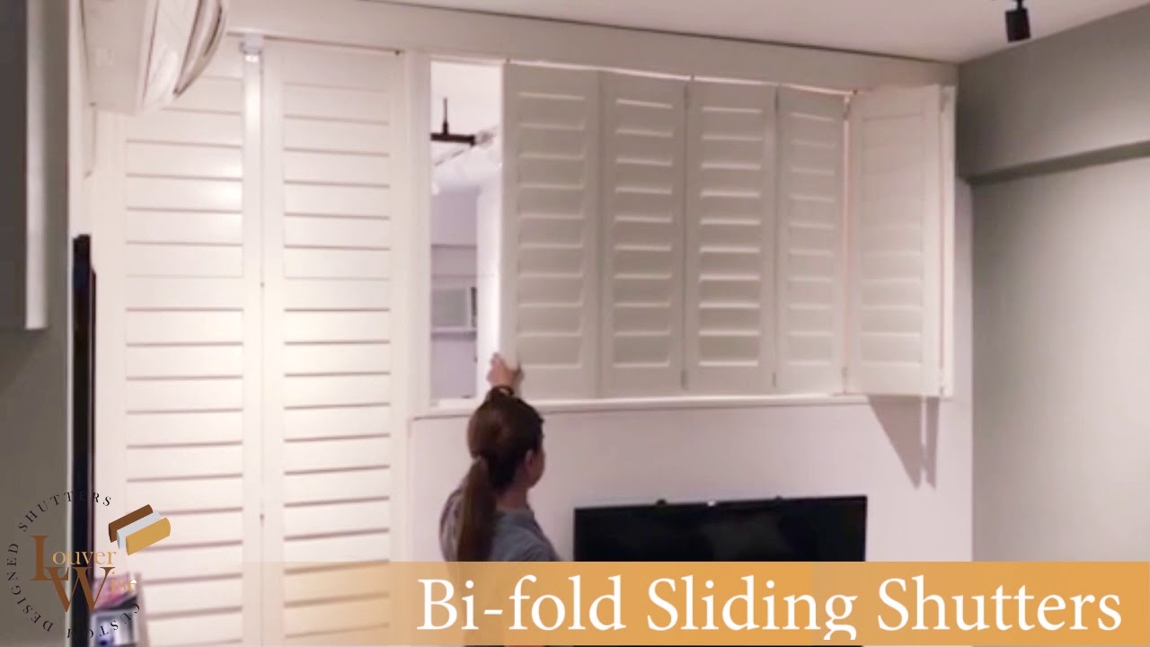 Bi-fold Plantation Shutters as Room Divider