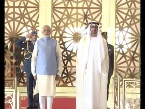 Modi with abu dhabi on national anthem ...