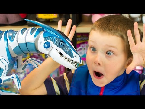 Roboraptor Blue Robot Dinosaur Toy for Kids Review by Kinder Playtime
