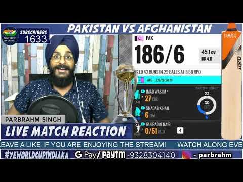 Pakistan VS Afghanistan Match Last Few Overs Highlights | CWC19 | PAK VS AFG | Reaction