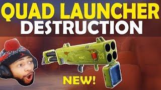 QUAD LAUNCHER DESTRUCTION | FATAL FIELDS FRAGGING | HIGH KILL FUNNY GAME - (Fortnite Battle Royale)