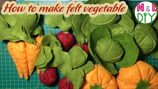 DIY How To Make Felt Vegetable