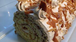 حلوى لاكريم رولي لذيذة /سهلة و سريعة جدافي متناول الجميع/  جنواز بدون تكسير/      Bûche au caramel