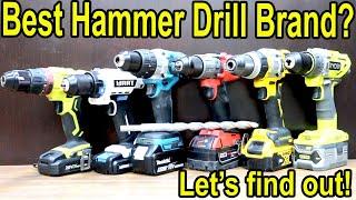 Best Hammer Drill Brand? Let's find out! Milwaukee, Dewalt, Makita, Ryobi, Hart, & Cacoop