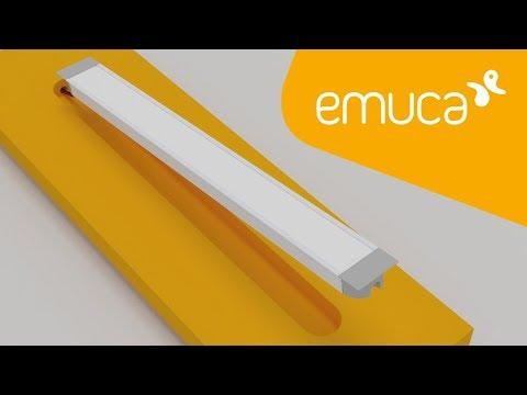 Cómo instalar una Tira LED con perfil de aluminio empotrado en el mueble - Emuca