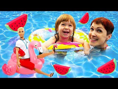 Бьянка и Фламинго в бассейне. Маша Капуки помогает Барби найти украшение. Привет, Бьянка!