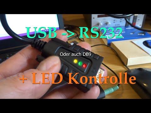 USB zu RS232 (DB9) Adapter mit LED Kontrolle Power TX RX - PCR1000
