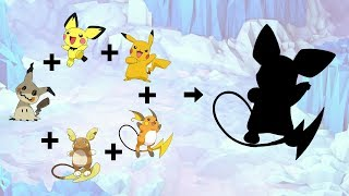 Raichu  - (Pokémon) - Requests #77 - Fusemon: Mimikyu + Pichu + Pikachu + Raichu + Alolan Raichu