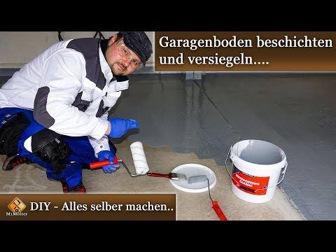 Garagenboden selbst beschichten mit EASYGROUND Beschichtung Classic - Anleitung