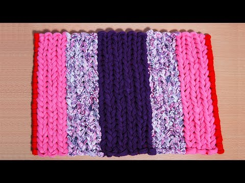 DIY, How To Make Easy Door Mat With Waste Clothes | کاردستی، ساخت پای پاک
