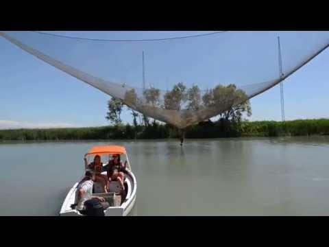 La pesca su una prigione da barca video