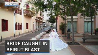 Bride Blown Backwards By Force Of Beirut Blast