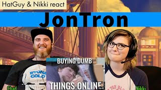 Hat Guy & Nikki React to BUYING DUMB THINGS ONLINE - JonTron