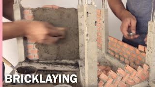 HOW TO BUILD A BRICK WALL: BRICKLAYING: Plaster     CONSTRUCIÓN DE CASA EN LADRILLO  Revoque