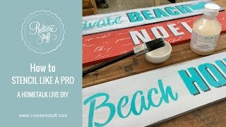 Hometalk Live - How To Stencil Like A Pro