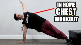 Bodyweight In Home Chest Workout | No Equipment by Onlykinds Fitness [5 Minute Workouts]
