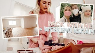 pack with me, weekend recap + drywall basement tour! by Aspyn + Parker