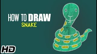 How To Draw SNAKE (साँप) Cartoon For Children | Step By Step Drawing Lesson | Shemaroo Kids Hindi